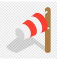 windsock isometric icon vector image vector image