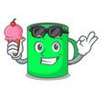 with ice cream mug character cartoon style vector image