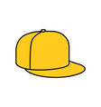 yellow rap cap icon vector image
