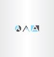 letter a logo set gray blue icon vector image