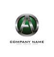 a 3d circle chrome letter logo icon design vector image vector image