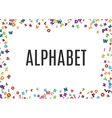 abstract black alphabet ornament frame isolated