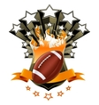American Football Emblem vector image vector image