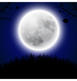 Background with moon vector image vector image