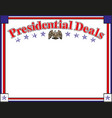 banner with usa symbols presidential vector image