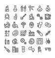 batest tubes line icons pack vector image