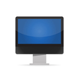 Black led monitor vector image vector image