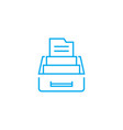 box for documents linear icon concept box for vector image