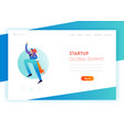 business start up landing page template character vector image vector image