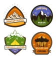 Camping Colorful Elements Set vector image vector image