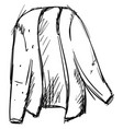 cardigan drawing on white background vector image vector image