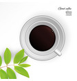 coffee americano in a white cup vector image vector image
