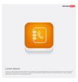 contact book icon orange abstract web button vector image