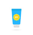 cosmetic tube of sunscreen with sun protection vector image