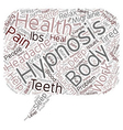 Could Hypnosis Be Better For Your Health text vector image vector image