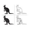 cut of kangaroo set poster butcher diagram vector image