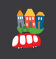 cute cars cartoon doodles transportation t-shirt vector image