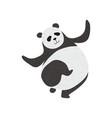 cute panda bear funny lovely animal character vector image