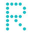 digital letter r display board round dot vector image vector image