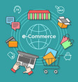 e-commerce infographic banner vector image vector image
