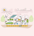 eco friendly home infographic vector image vector image