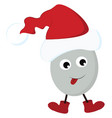 egg in santa hat or color vector image vector image