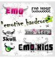 emo logos vector image vector image