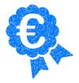 euro award grunge icon vector image vector image