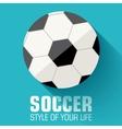 Flat sport soccer background concept design vector image vector image