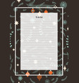 Flowers poster christmas template seamless