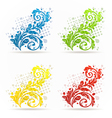 Four seasonal floral colorful set isolated vector image vector image