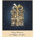 gift boxe from golden snowflakes vector image