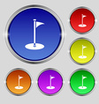 Golf icon sign Round symbol on bright colourful vector image vector image