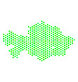 green honeycomb kazakhstan map vector image vector image