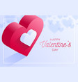 happy valentine day red love heart icon isometric vector image