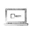 laptop computer web site page device image vector image