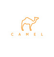 line art abstract camel design template vector image vector image