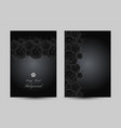 luxury cards with black glamour roses vector image vector image