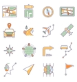 Map Icons Line vector image vector image