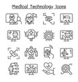 medical technology futuristic medicine icon set vector image