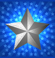 memorial day silver star vector image