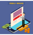 Mobile Banking Isometric Concept Online Payment