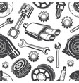 monochrome seamless pattern with automobile tools vector image