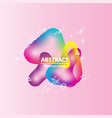 motion amoeba fluid abstract background paper cut vector image vector image