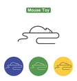 mouse toy line icon vector image vector image