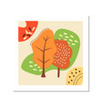 nature in fall social media post mockup with vector image