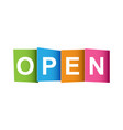 open tag market message flat on white background vector image vector image