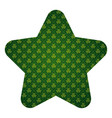 pattern shape label st patrick day clover vector image vector image
