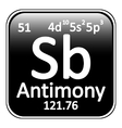 Periodic table element antimony icon vector image vector image