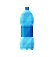 plastic bottle with purified water vector image